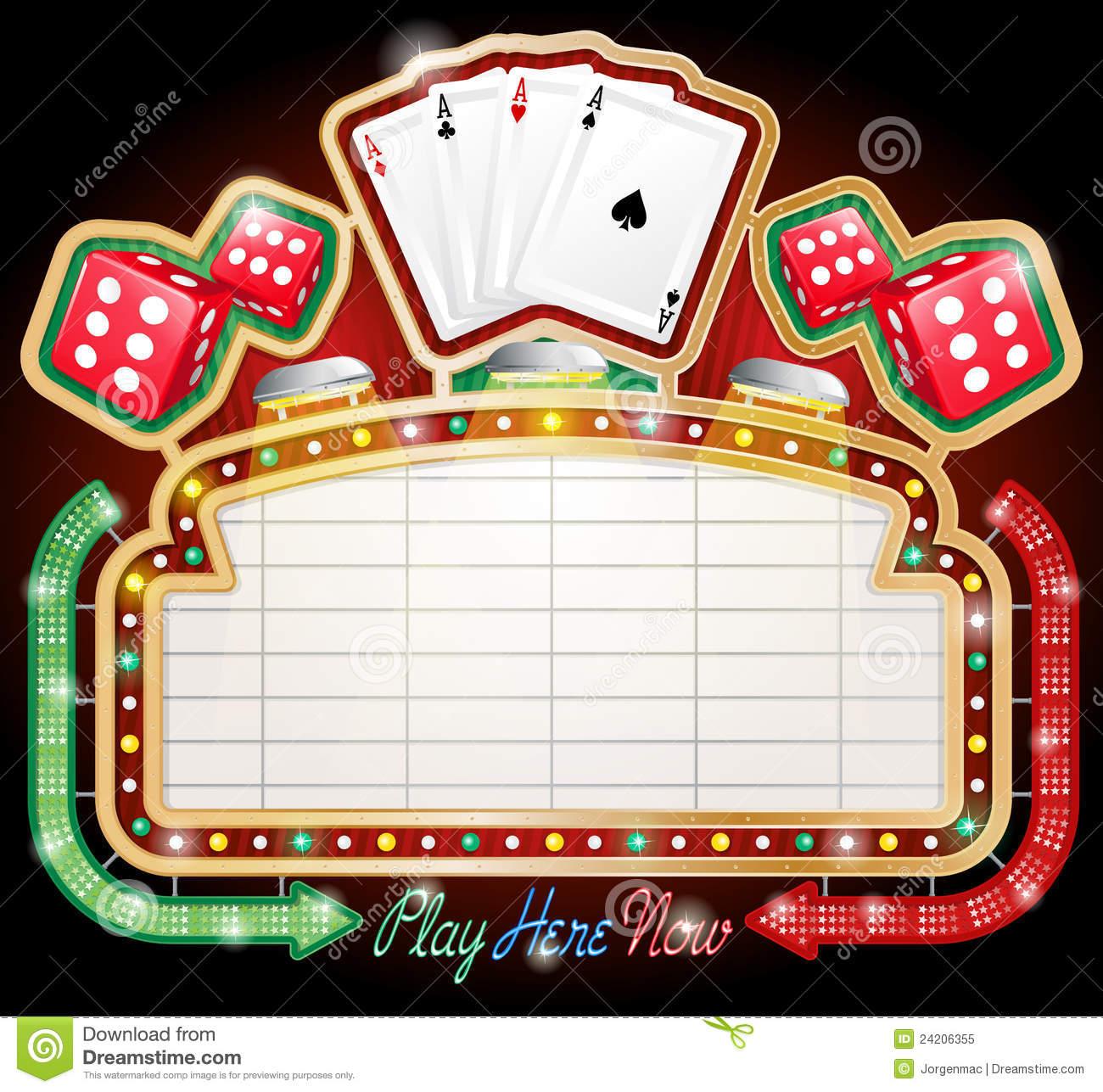 Pencil and in color. Casino clipart casino sign