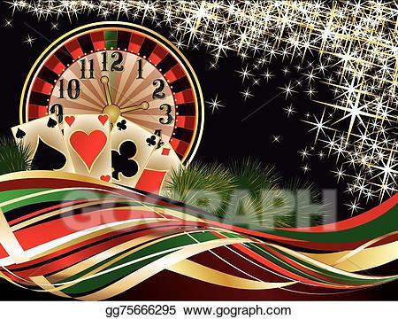 Vector invitation card . Casino clipart christmas casino