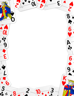 Cards clipart casino card. Playing border frames borders