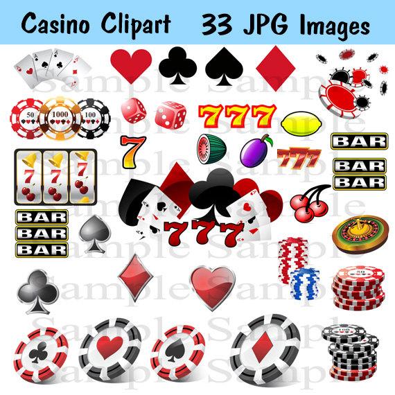 Casino clipart dice vegas. Digital instant download jpg