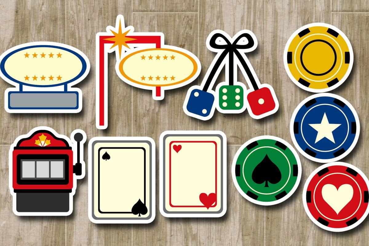 Casino clipart dice vegas. Las sign gambli design