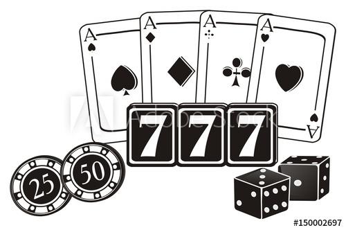 Las america usa illustration. Casino clipart dice vegas