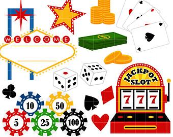 Las digital instant download. Casino clipart dice vegas
