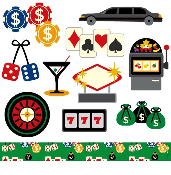 Las vegas sale commercial. Casino clipart line art