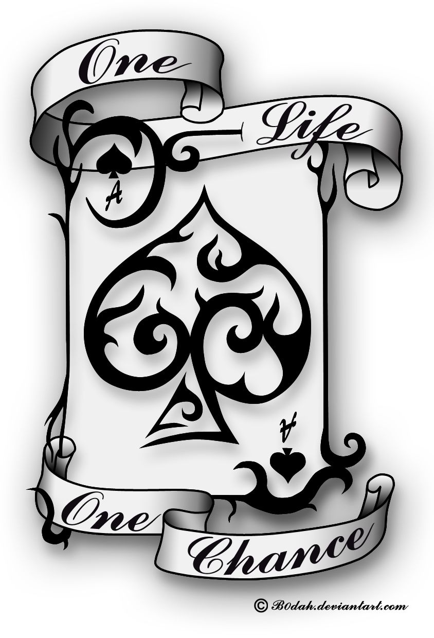 Casino clipart line spades ace. Of tattoo design by