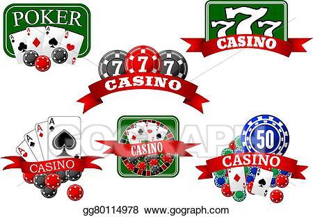 Vector art jackpot and. Casino clipart poker hand