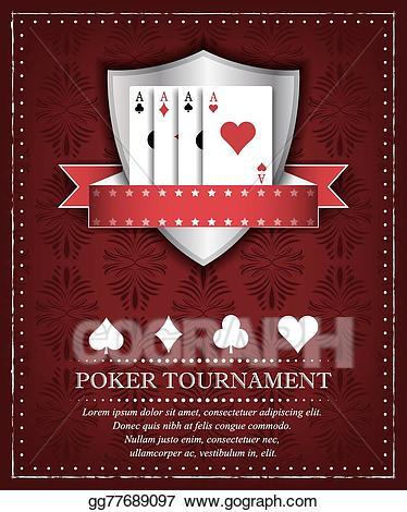 Casino clipart poker tournament. Eps illustration background vector