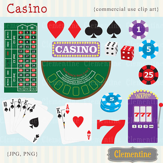 Poker clip art images. Casino clipart printable