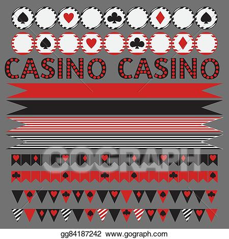 Vector stock tribal set. Casino clipart printable