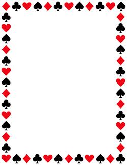 Card suit border wallpaper. Casino clipart printable
