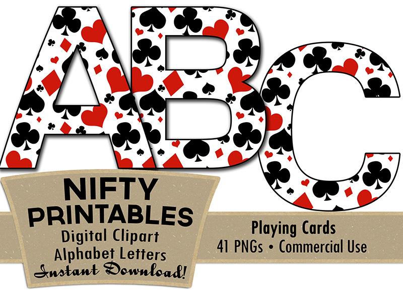 Casino clipart printable. Alphabet poker theme nifty