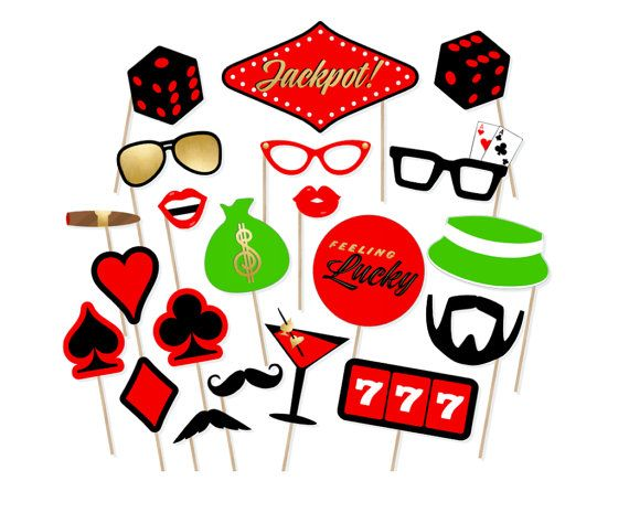Casino clipart printable. Photo booth props las