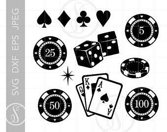 Casino clipart printable. Etsy