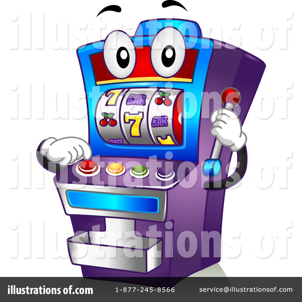 Illustration by bnp design. Casino clipart slot machine