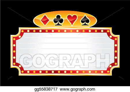 Vector art neon drawing. Casino clipart symbol