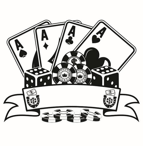 Poker logo chips four. Casino clipart texas hold em