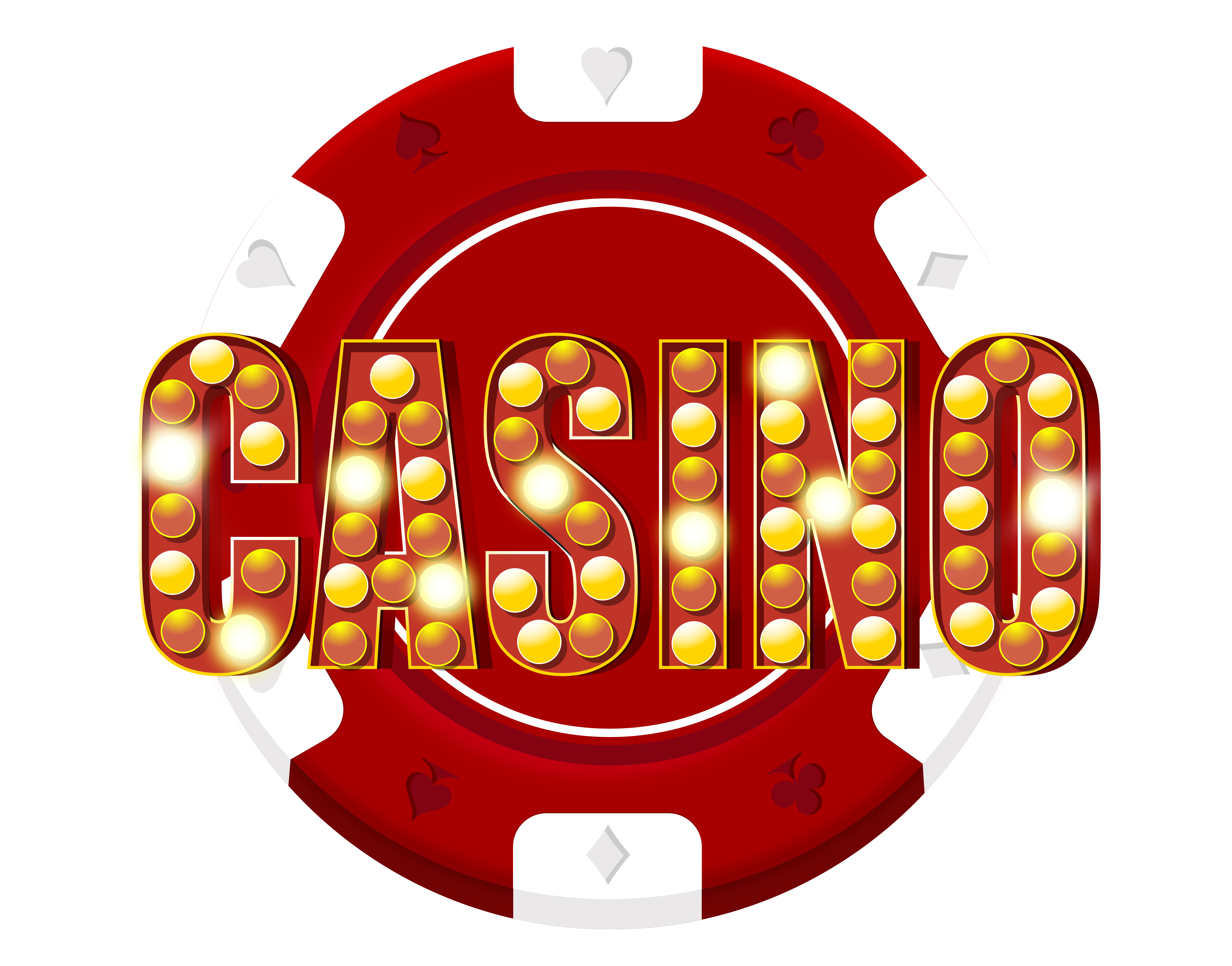 Red casino chip decoration. Games clipart portable