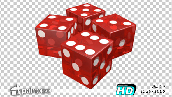 Dice roll red by. Casino clipart transparent
