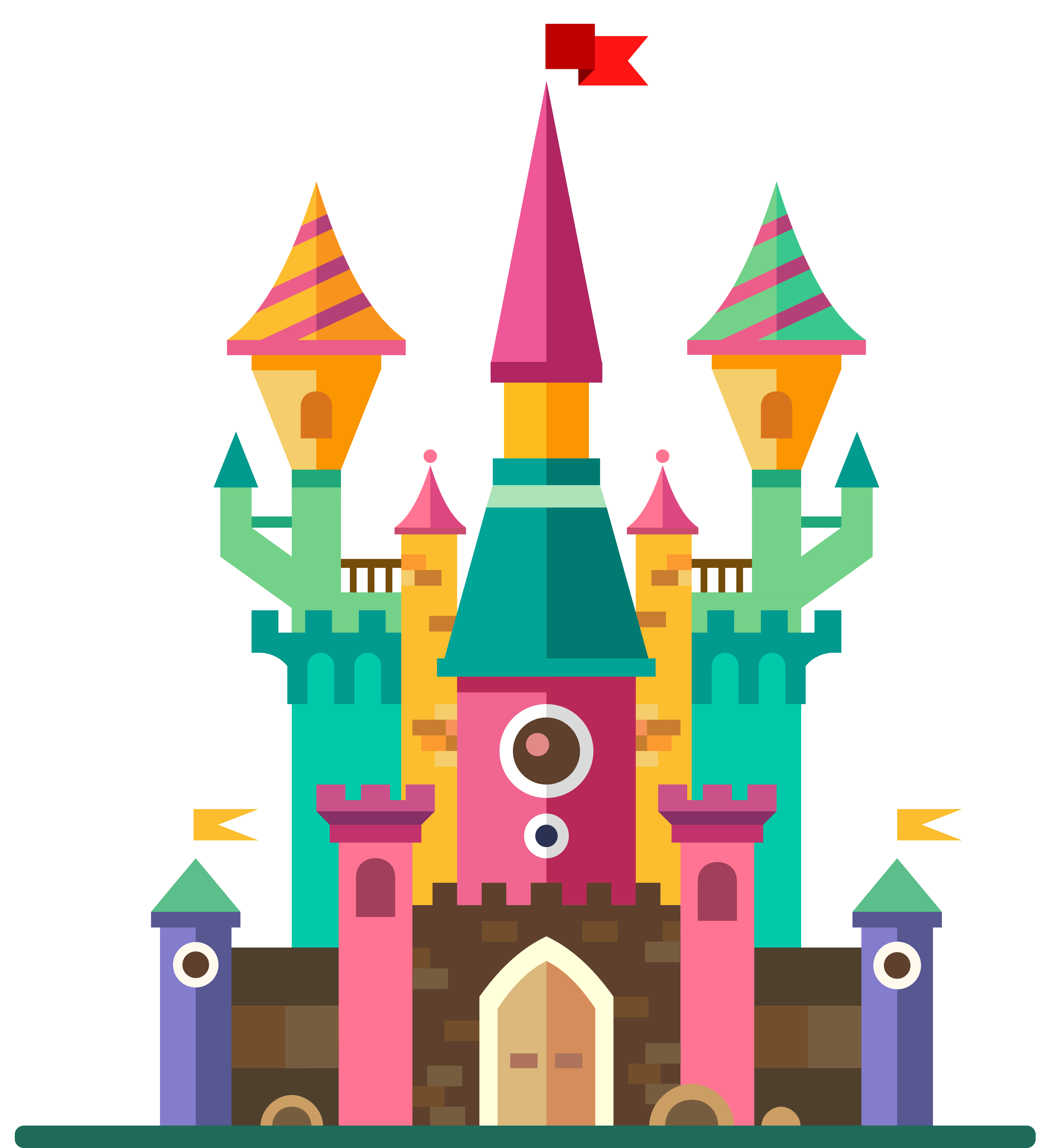 Magic clipart vector png. Cute castle image gallery