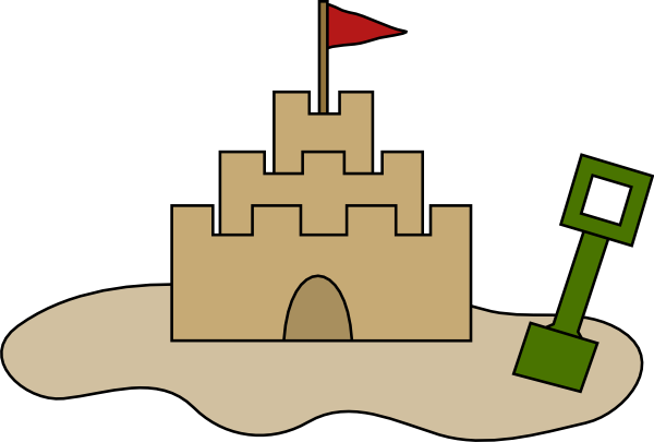 Castle clipart animated. Sand clip art at
