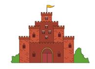 Free castles clip art. Castle clipart animated