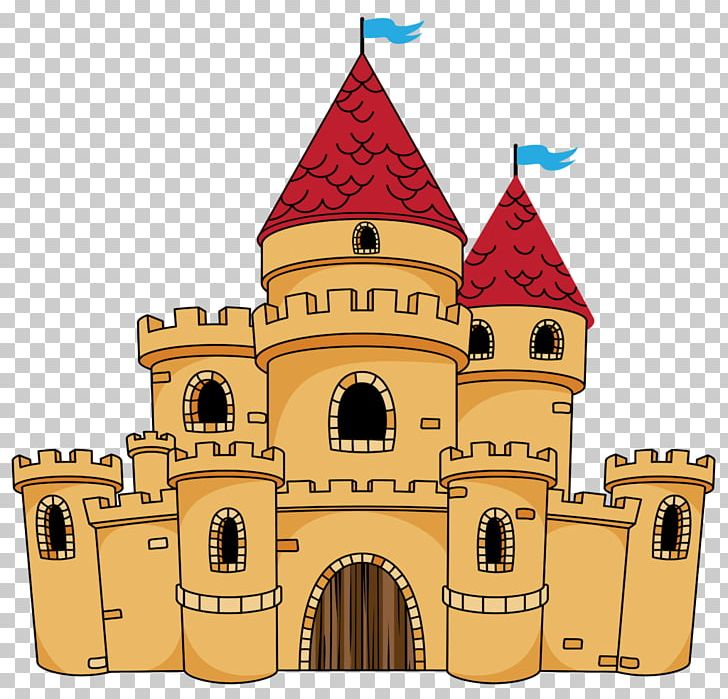 Middle ages castle cartoon. Palace clipart animated