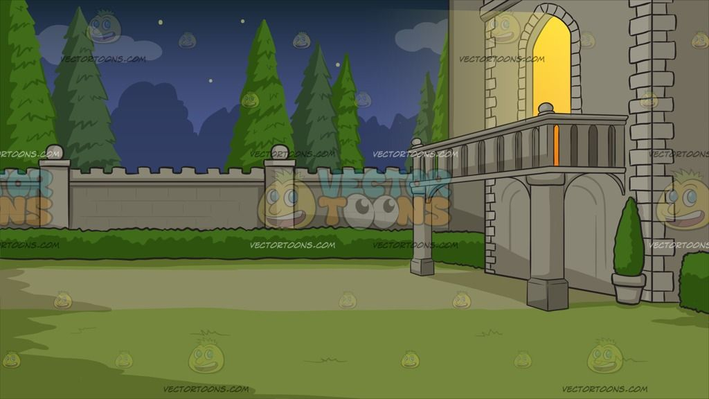 Clipart castle balcony. Of a background terrace