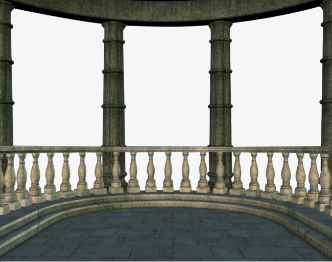 Ornamental stone building sets. Clipart castle balcony