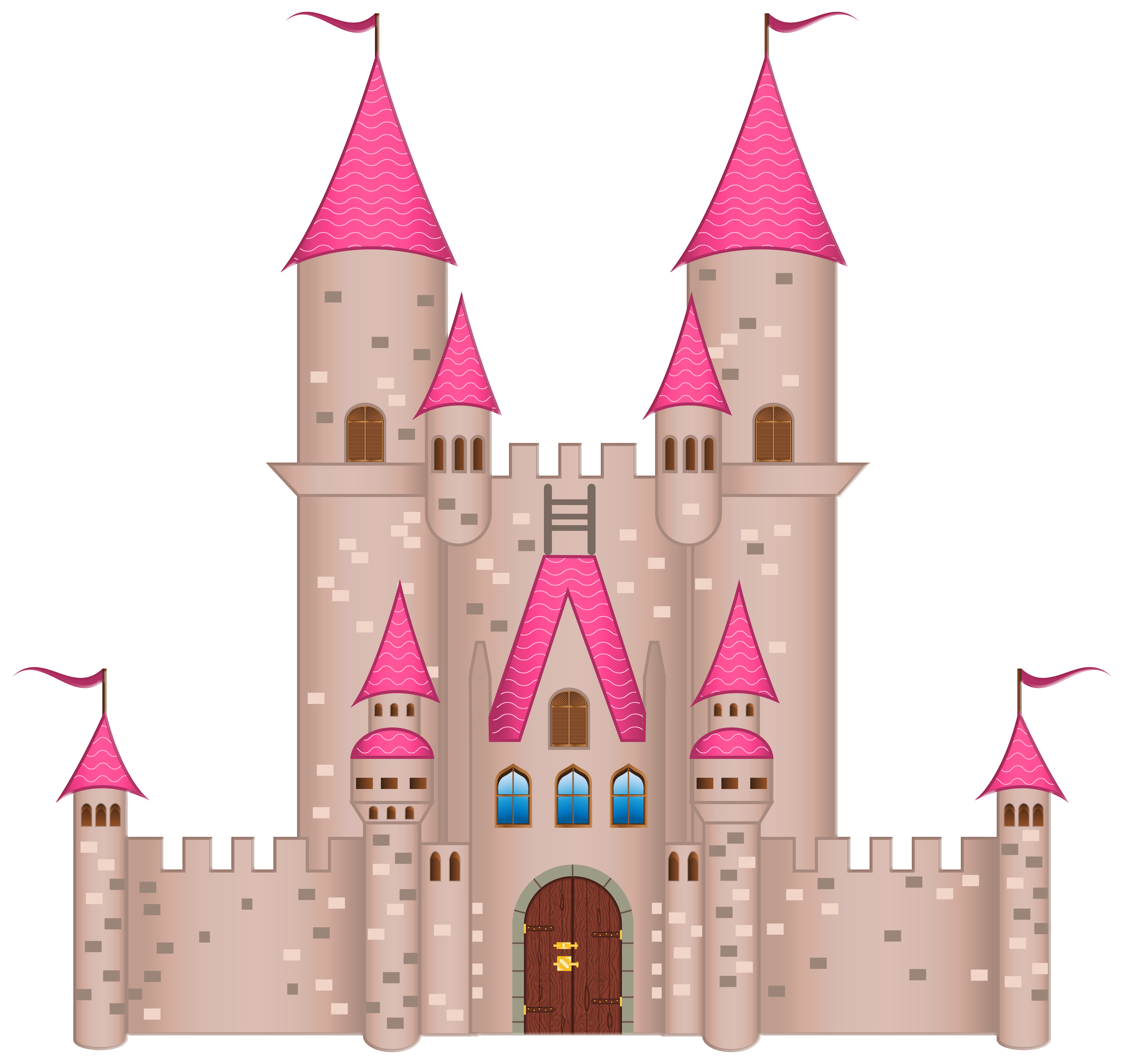 Pink png image gallery. Clipart castle logo