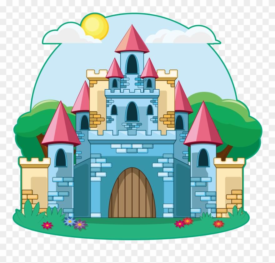 Fairytale clipart casle. Drawing illustration fairy tale