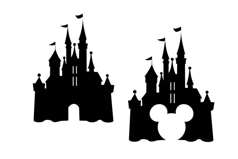 Disney svg dxf silhouette. Castle clipart cinderella castle