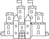 Castle clipart clip art. Free black and white