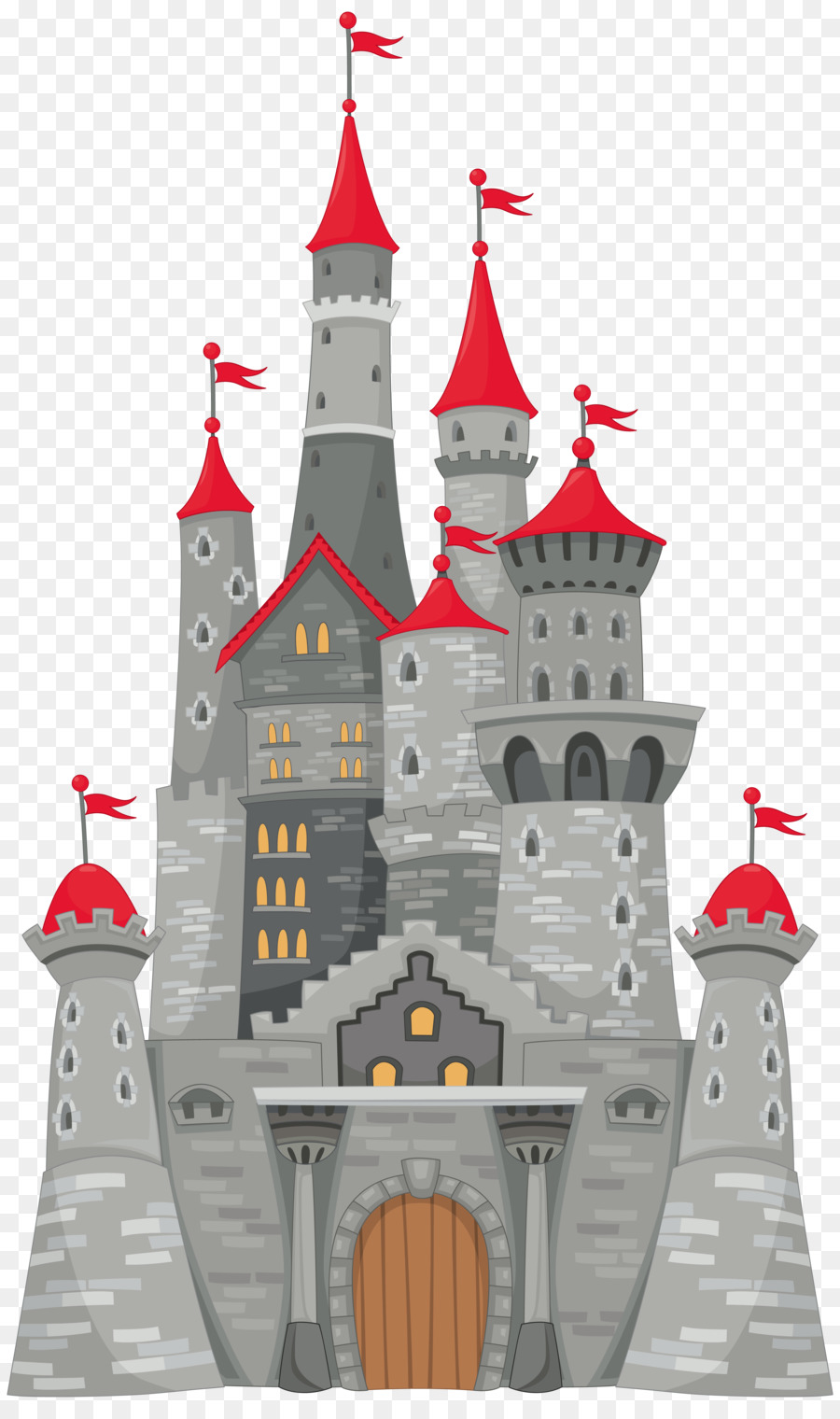 christmas illustration drawing. Castle clipart clip art
