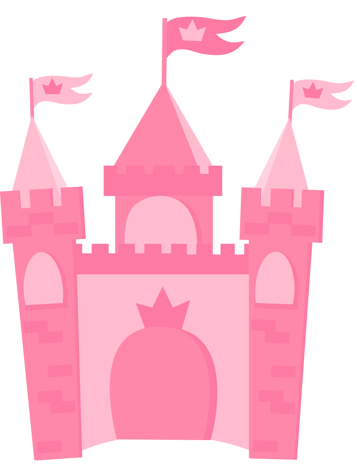 Clipart castle transparent background. Pink