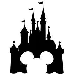 Disneyland clipart. Castle silhouette panda free