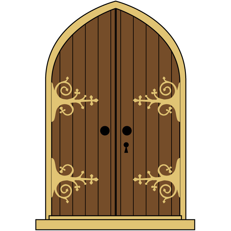 collection of castle. Gate clipart medieval door