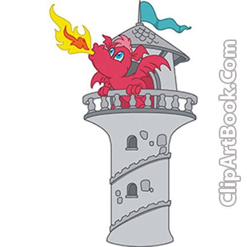 Free book cliparts download. Clipart castle dragon