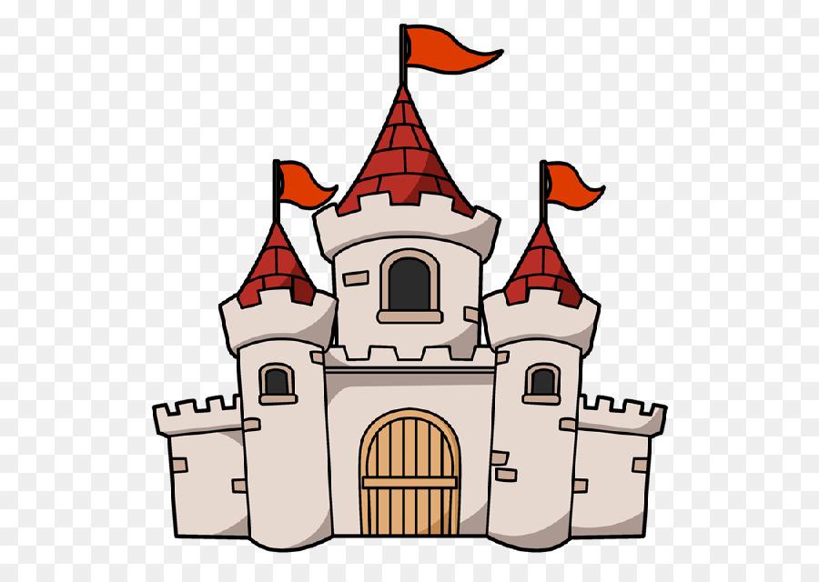Cartoon . Clipart castle drawing