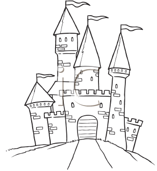 Coloring pages of castles. Clipart castle drawing