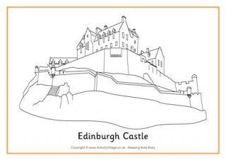 Colouring page st andrew. Castle clipart edinburgh castle