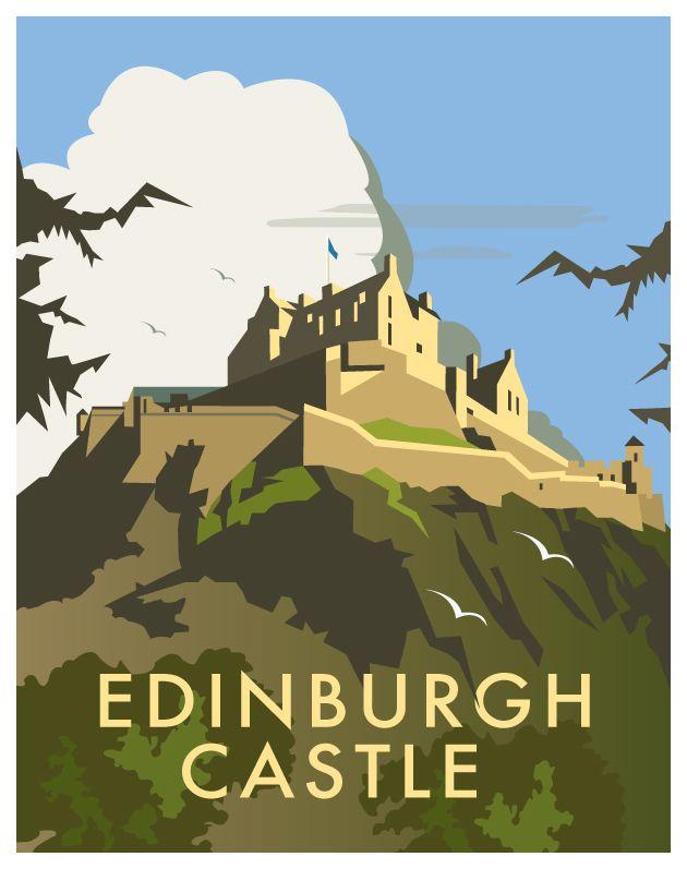 best british vintage. Castle clipart edinburgh castle