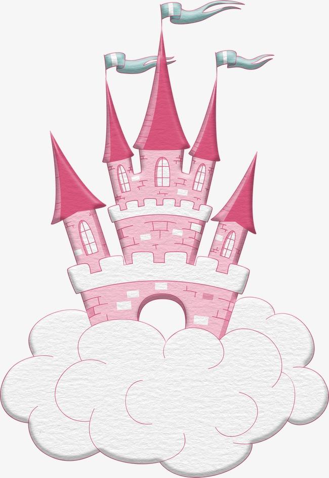 Fairy tale story illustration. Castle clipart fairytale castle