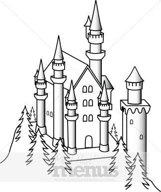 Castle clipart fairytale castle. Kids menu