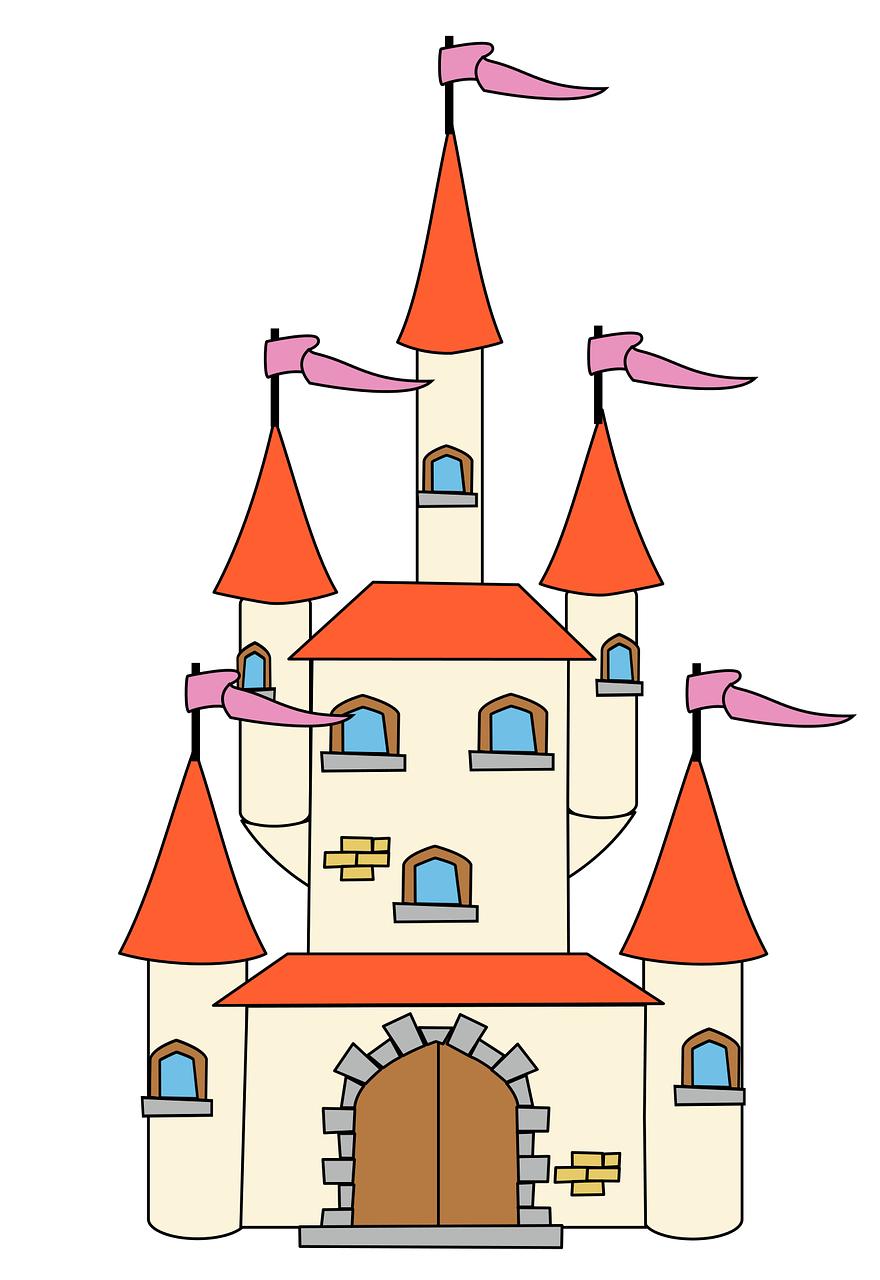 Fairy tale fantasy medieval. Castle clipart fairytale castle