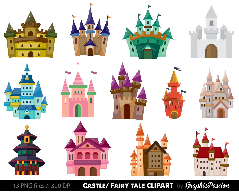 Unique related items etsy. Clipart castle fancy