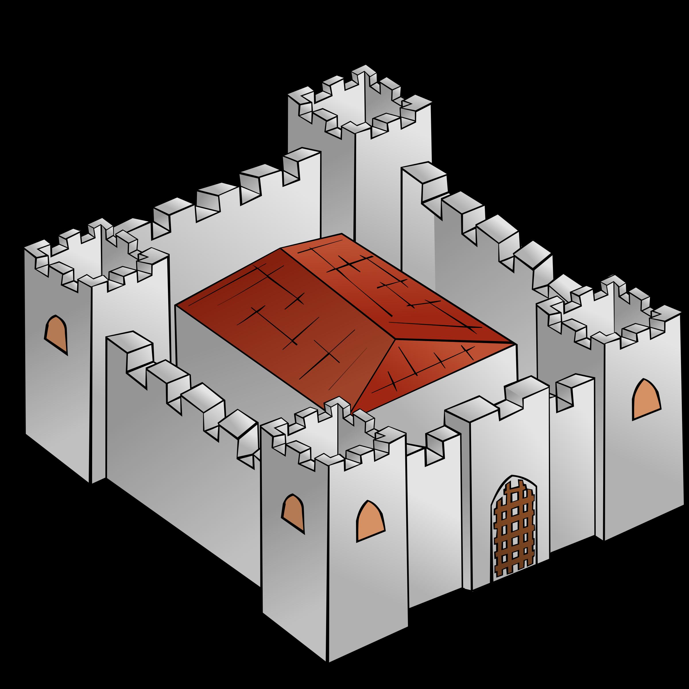 Rpg map symbols big. Clipart castle fortress
