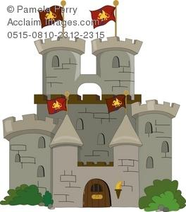 Clip art illustration of. Clipart castle medieval