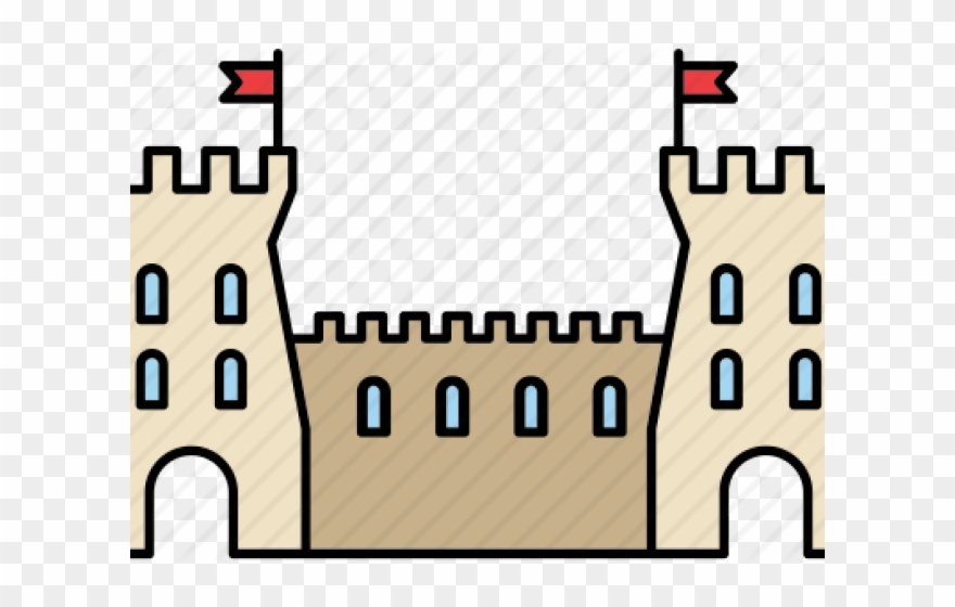 Medieval wall png download. Clipart castle fortress