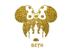 Castle clipart gold glitter. Minnie mouse head bling