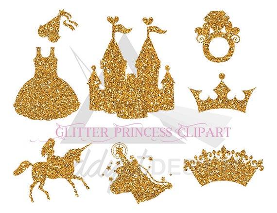 Castle clipart gold glitter. Unicorn party golden unicorns